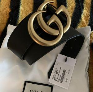 Gucci Gold Brass Collection Belt 85cm
